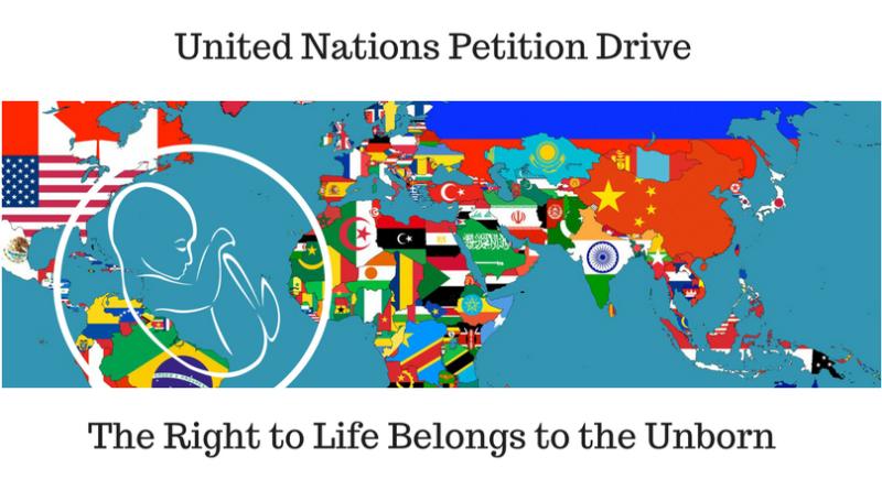 Petizione per il diritto alla vita nel diritto internazionale