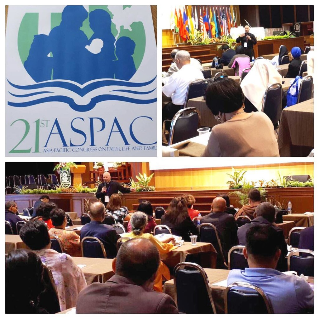 """Secondo giorno del XXI Congresso ASPAC. Discorso di Don Shenan Boquet ai delegati presenti, intitolata: """"La rilevanza ininterrotta del messaggio di Fatima nella battaglia per la vita e la famiglia""""."""