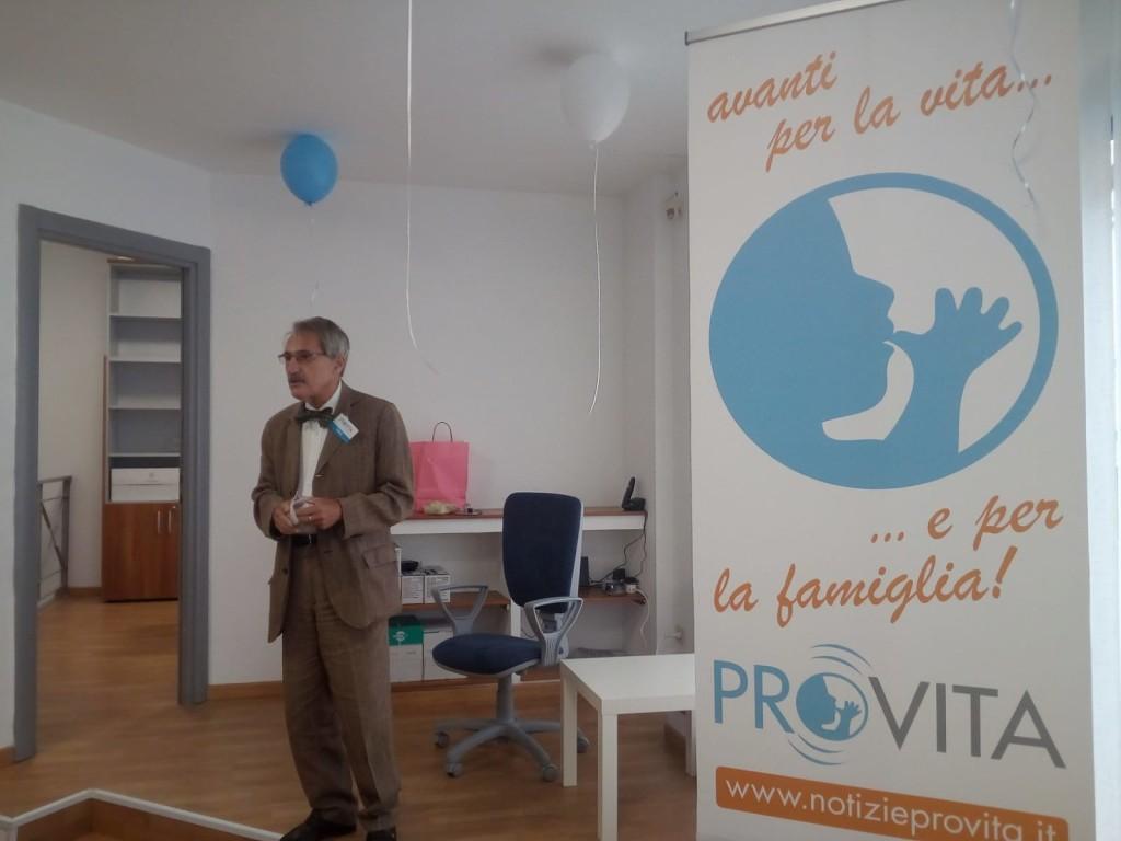 Toni Brandi, presidente di ProVita Onlus, nella nuova sede