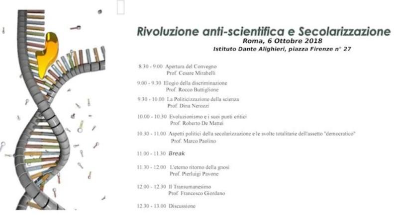 Rivoluzione anti-scientifica e Secolarizzazione – Convegno