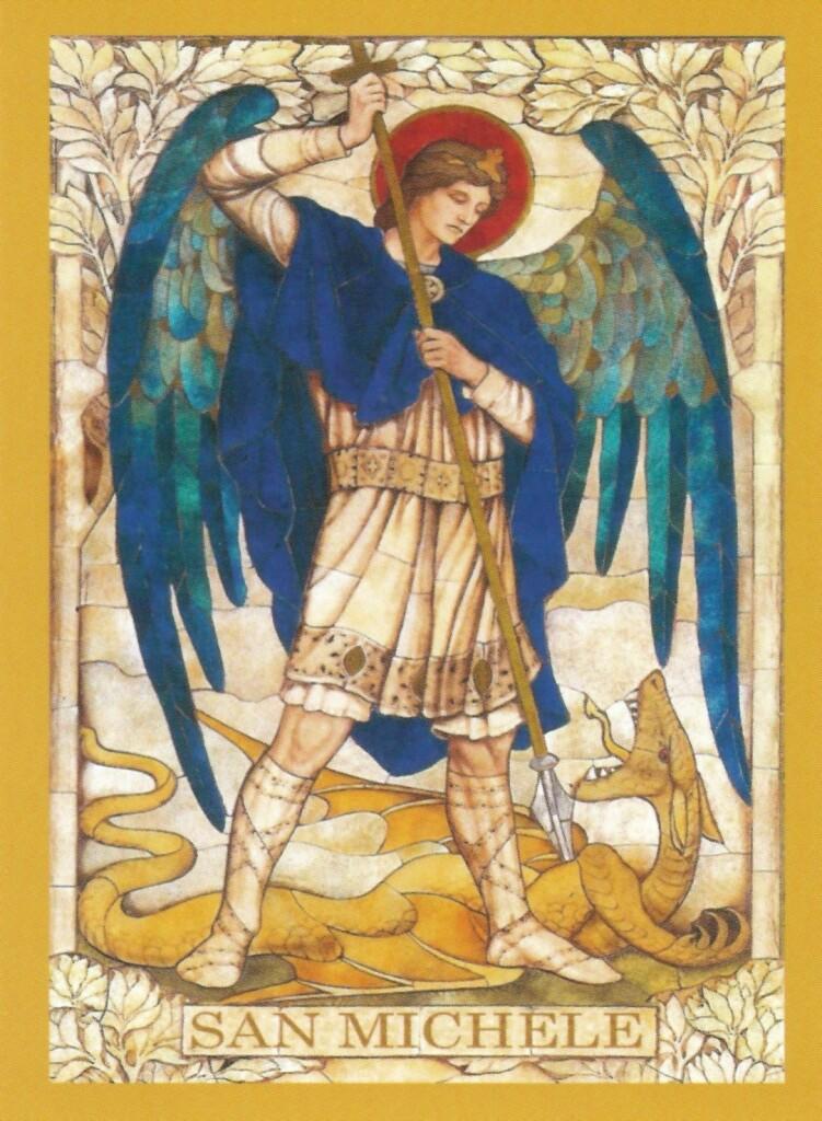Il santino di San Michele Arcangelo